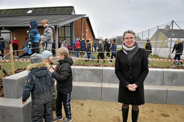 Skoleleder Tina Westergaard er glad for både projektforløbet og det endelige resultat: - vi har fået rigtigt meget for pengene - til gavn for eleverne i mange år i fremtiden, siger hun. Foto: Ole Iversen Ole Iversen