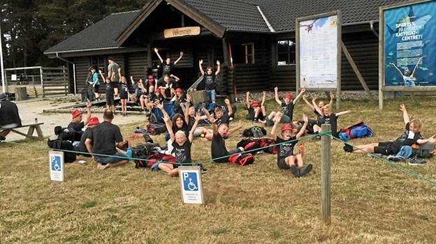 De færreste af børnene havde været i parken, så det var de glade for at prøve. Privatfoto.