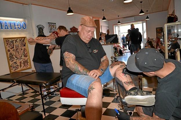 Der var godt gang i tattoo-biksen. Foto: Jesper Bøss