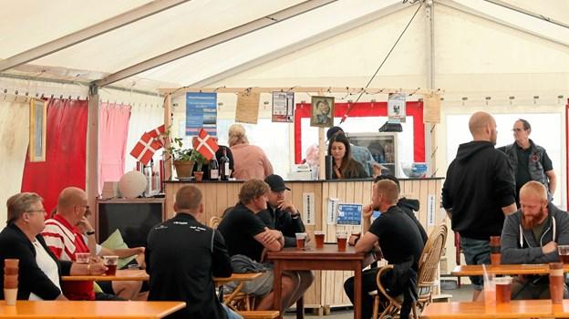 Der var også hygge i det lille telt. Foto: Allan Mortensen Allan Mortensen