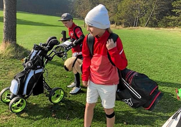 Søndag 24. marts er der juniordag på golfbanen i Nystrup. Privatfoto