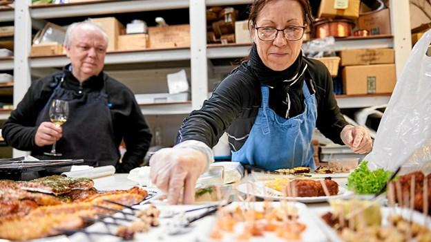 """Der bliver mange lækre smagsprøver til """"Gourmet under Kronerne"""". Foto: Privat"""