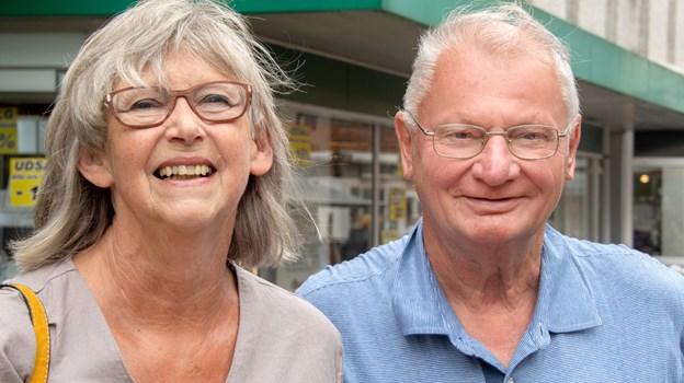 Marion og Heiko Stannius har i mange år holdt ferie i sommerhus i Løkken - og så tager de altid på en tur til Brønderslev. Foto: Henrik Louis HENRIK LOUIS