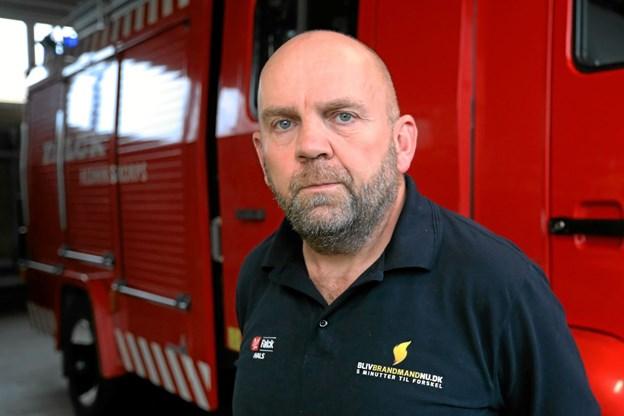 Michael Skytt håber på tilgang af 3 til 4 ny brandfolk i Hals. Foto: Allan Mortensen
