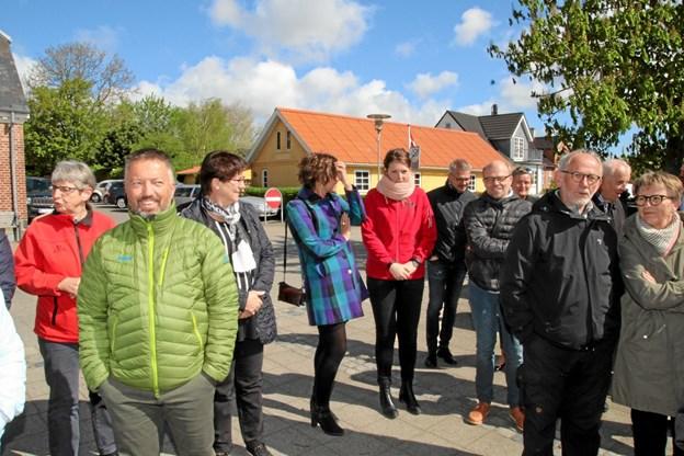 Der var mødt mange frem til indvielsen. Foto: Flemming Dahl Jensen Flemming Dahl Jensen
