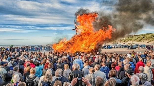 Sankthansaften fejres atter på stranden i Blokhus. Pressefoto