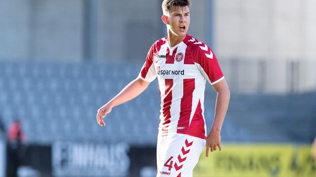 Lyngø nåede at få én superligakamp for AaB. Arkivfoto: Torben Hansen