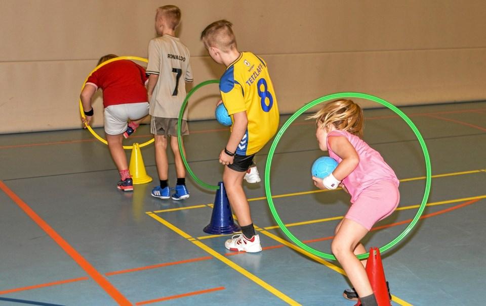 Også smidigheden kom på prøve på Håndboldens Dag i Lanternen. Foto: Mogens Lynge Mogens Lynge