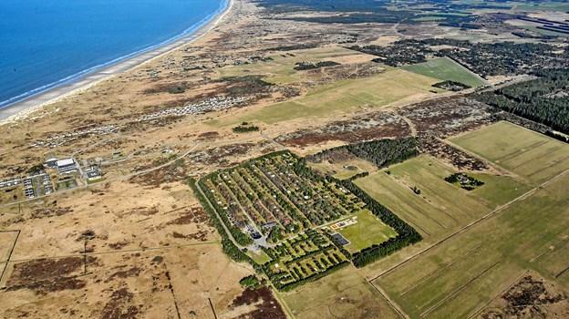 Rødhus Klit Camping er også til salg og kan erhverves for et beløb, der vurderes at være minimum 3,8 millioner kroner. Foto: Esoft