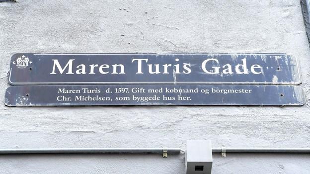 Maren Turis Gade er i dag en fredelig idyl, men Maren Turis liv var ikke kun fredeligt.