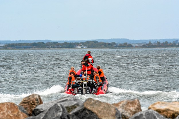 Og så var der mulighed for at komme med på en tur med Beredskabet i deres redningsbåd. Foto: Mogens Lynge