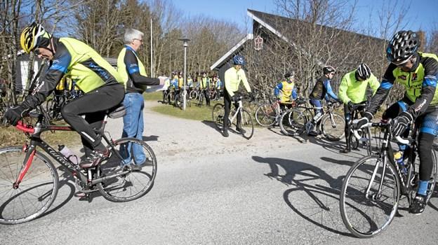 Deltagere fordelte sig på syv afstukne ruter. Foto: Allan Mortensen Allan Mortensen