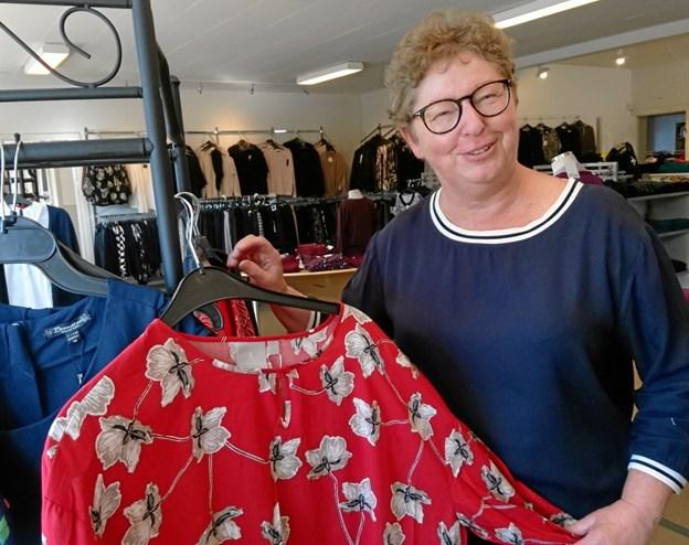 Også i 2018 havde Anette Sørensen i Netto-tøj i Erslev velbesøgte modeshows.