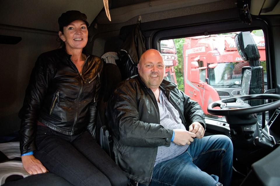 Marlene Sønderskov var taget med kæresten Heine Birk til træf. De var med for første gang og overnattede i lastbilen. Foto: Bo Lehm
