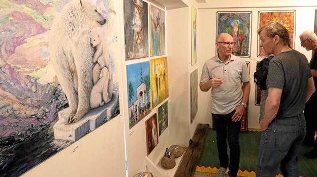 32 kunstnere er repræsenteret på udstillingen. Foto: Allan Mortensen Allan Mortensen