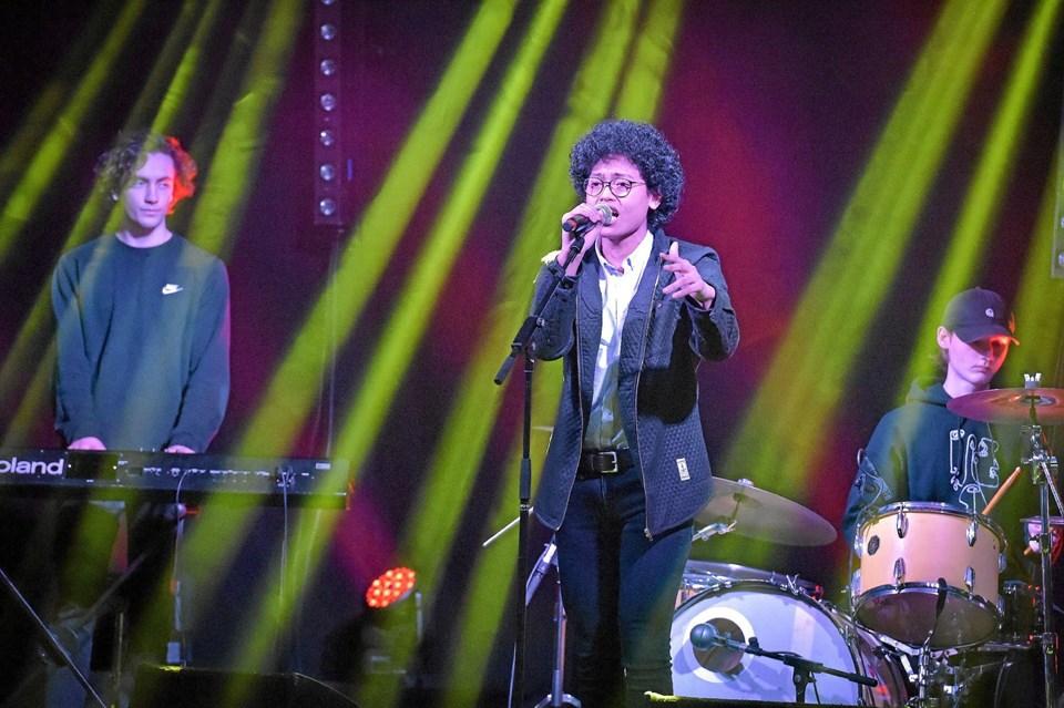 Musikindsalg af bandet fra Thisted Musiksskole Tuesday Night Fever. Foto: Ole Iversen Ole Iversen