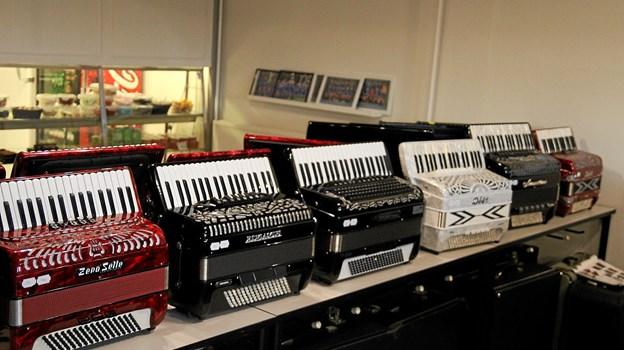 Der er også mulighed for at købe en ny harmonika, når der er træf. Foto: Flemming Dahl Jensen