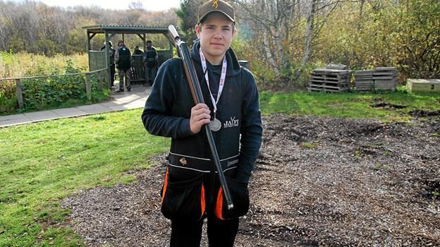 Den 16-årige Jesper Larsen vandt en flot sølvmedalje til DM. Foto: Flemming Dahl Jensen