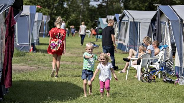 Omkring 2000 mennesker flytter til Hjallerup i den kommende weekend til en uge med bibelcamping.Arkivfoto: Henrik Louis