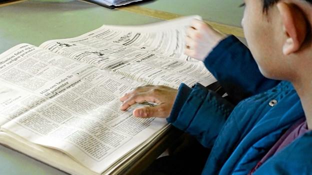 Også i de gamle aviser kan man se hvordan det var engang på Hannæs.Privatfoto Ole Iversen