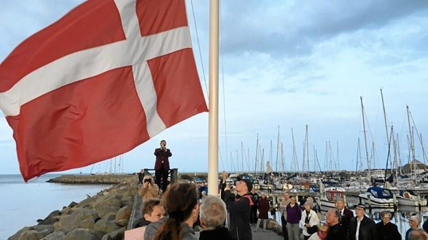 Flaget spilles ned for sidste gang i år.