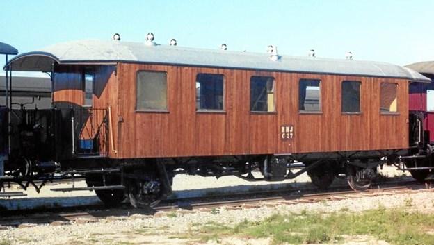 Sådan tog personvogn C27 sig ud, da den senest var i drift på veteranbanen mellem Mariager og Handest. Privatfoto