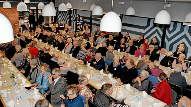 Alle pladser var besat, hvor 160 personer deltog i foredraget med fhv. forsvarsminister Søren Gade. Foto: Hans B. Henriksen Hans B. Henriksen