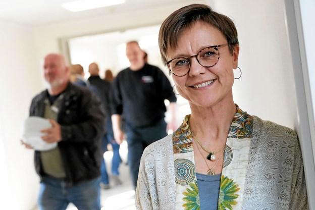 Lone Svendsen bliver forstander for det nye center, der ventes klar til brug omkring den 20. maj. Foto: Allan Mortensen Allan Mortensen