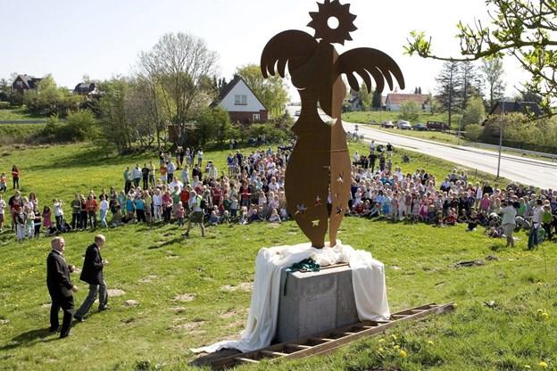 Engleskulpturen i Ravnshøj er blandt de værker, som Anne Marie Johansen har skabt og som skabte en del omtale i sin tid. Arkivfoto: Carl Th. Poulsen Carl Th Poulsen