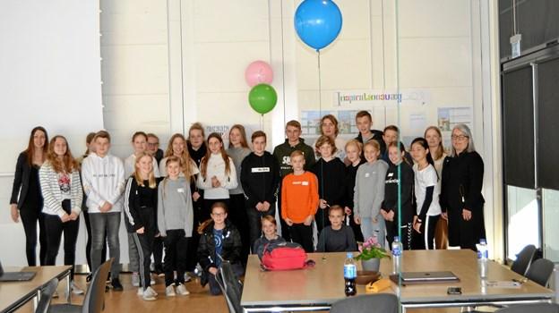Det var en særligt nedsat gruppe af elever, der var med til at diskutere fremtidens skole i Jammerbugt Kommune. Privatfoto