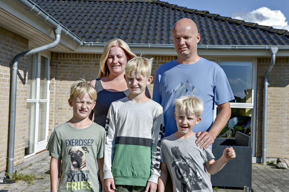 Familie Ellesgaard vandt en tur til Norge med alt betalt - de skulle bare teste stedets faciliteter. Foto: Henrik Louis