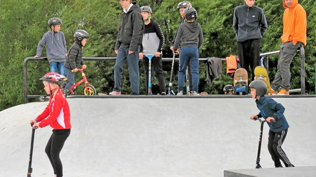 Mange børn og unge nød den nye bane. Foto: Søren Borup Winther