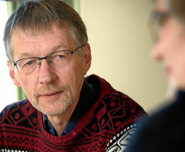 Niels Grymer, der taler i Hans Egedes Kirke, er tidligere præst ved kirken men i dag er seniorpræst i Sydfrankrig. Arkivfoto: Bo Lehm