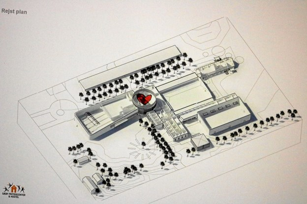 Hjertet i rotunden skal opfylde flere formål. Her skitsen af Sæby Spektrum, der skal stå færdigt til sommeren 2010.