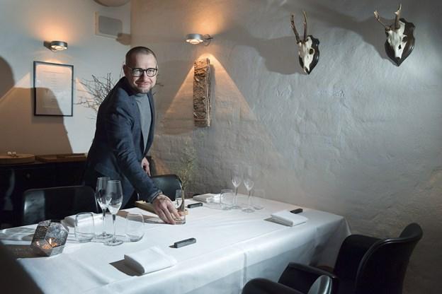 Hvert år får gourmet-restauranten på bryghuset et nyt tema, der afspejles i indretning og menu. I år er det skoven, der gennemsyrer smags- og synsindtryk.Foto: Bente Poder