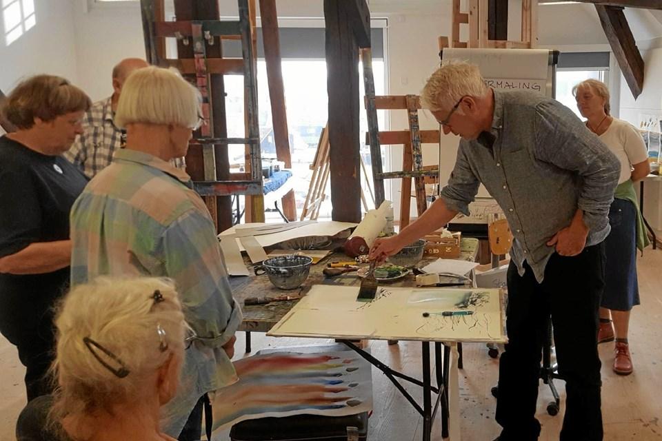 På kurset i Sønderborg sidste sommer underviste den anerkendte akvarelkunstner Lars A. Persson, der er bosat i Göteborg. 29. juni er han underviser på akvarelkurset i Frederikshavn. Privatfoto