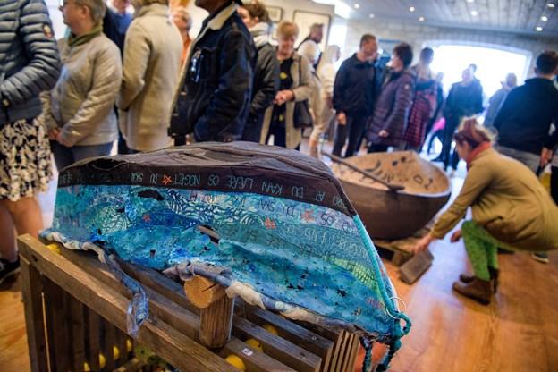 Kunstnergruppen Rock the Boat udstillede ikke så overraskende både. Foto: Bo Lehm