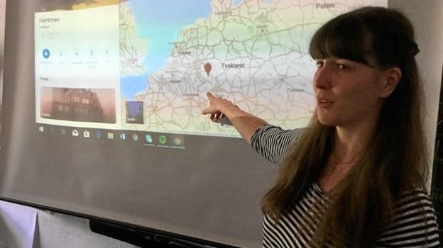 En tysk studerende var gæstelærer på Ørding Friskole i en uge. Privatfoto.
