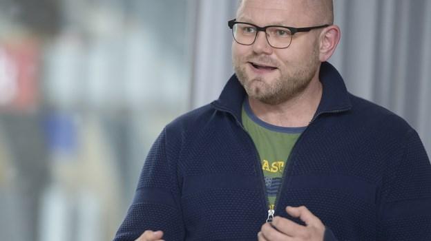 Handelschef Lars Bisgaard håber på over 100 deltagere i klovneløbet til Go' Aften Brønderslev.Arkivfoto: Grete Dahl