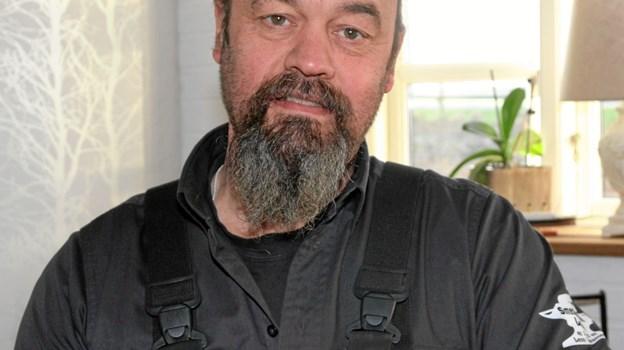 "Leon Sørensen har startet firmaet ""Smedens Søn Lerup"" med egen trailer. Foto: Flemming Dahl Jensen Flemming Dahl Jensen"