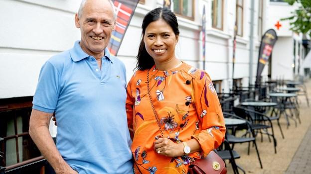 Jens og Gemma Andersen var på ophold med tre overnatninger på Hotel Phønix i Brønderslev. Foto: Lars Pauli © Lars Pauli