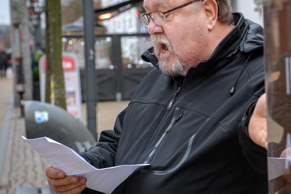 Vendsyssels berømte arbejderdigter Scharnberg har fået mæle i Frederikshavn Poesipark efter sponsorat fra Socialdemokratiet. Arkivfoto: Peter Broen. Peter Broen