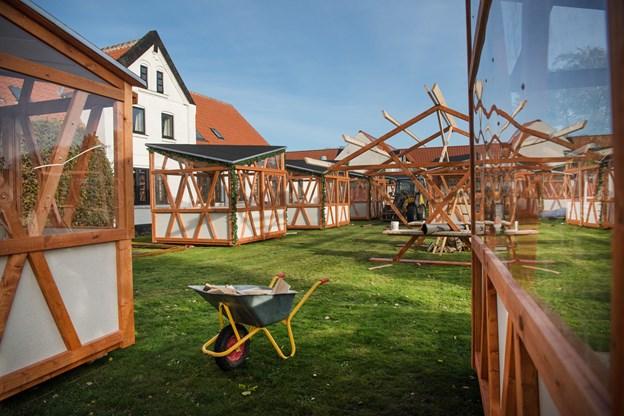 De nye hytter er tegnet af de lokale arkitekter hos LBB3 Arkitektur og rumdesing.  Foto: Hans Ravn