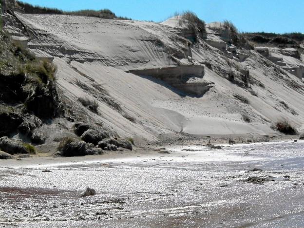 De vindblæste klitformationer ved stranden har været en inspirationskilde for arkitekt Jörg Kerchlango.