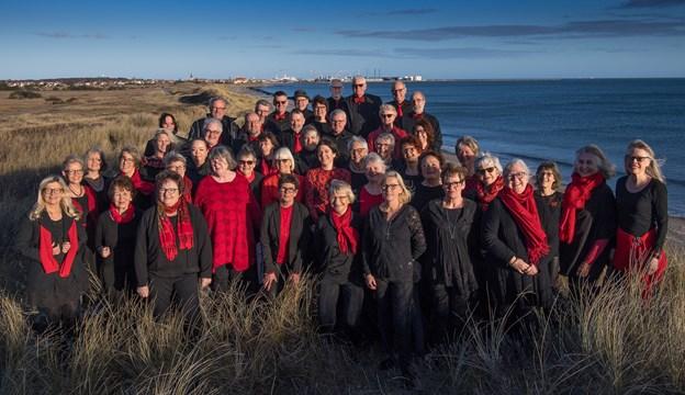 Klitkoret synger julen ind mandag 3. december.Foto: Peter Broen