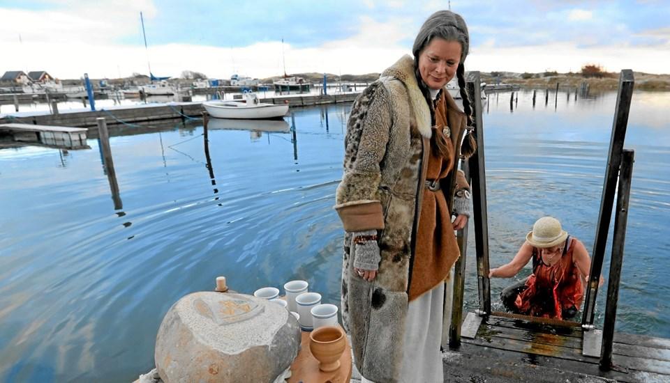 På lørdag døber vinterbaderforeningen i Hou en håndfuld nye vikinger. Arkivfoto