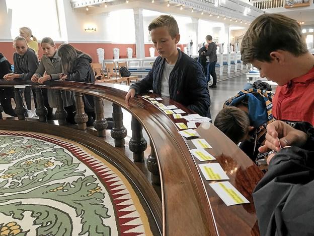 Nadverbænken i Skagen Kirke kan også bruges til undervisningsformål. Foto: Skagen Kirke