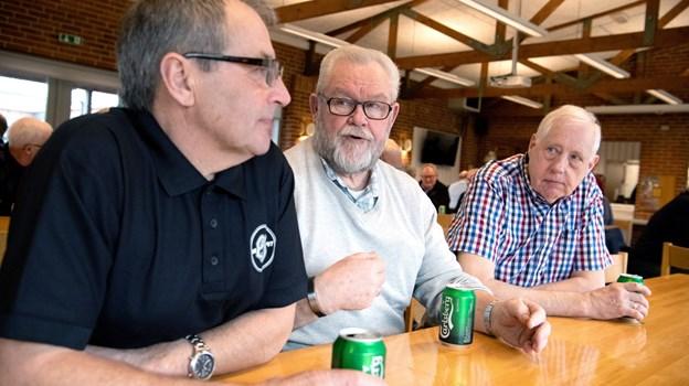 H. C. Poulsen, Niels Kjeld Jensen og Ole Brogaard nyder at være med i Bjørnebanden.?Foto: Henrik Louis HENRIK LOUIS