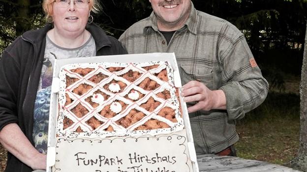 Birtgitte Frandsen og Allan Kristensen kunne den 1. juni fejre Fun Park Hirtshals 20 års jubilæum. Foto: Peter Jørgensen Peter Jørgensen