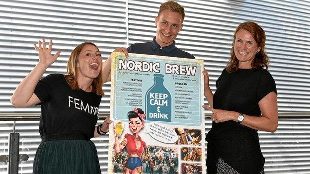 Holdet bag Nordic Ink og Brew Festival - fra venstre Lone Kosack, Jacob Steffensen og Dorthe Brassøe.